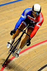 Sir Chris Hoy in action!